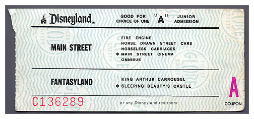 Coupons for disneyland park tickets